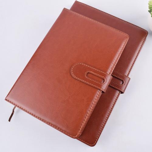 笔记本带扣皮面