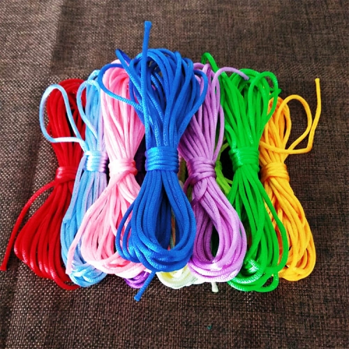 DIY编织线彩色绳子