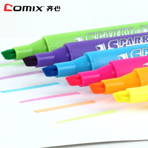 齐心6支装彩色荧光笔K9036