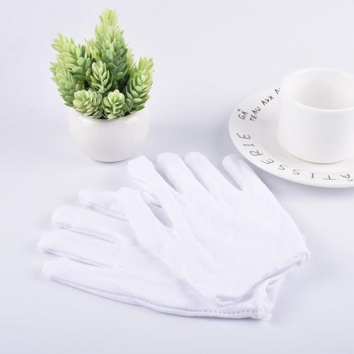 白色作业手套 加厚款