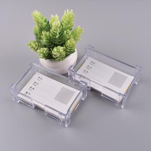 名片座创意桌面名片夹透明名片盒 单格